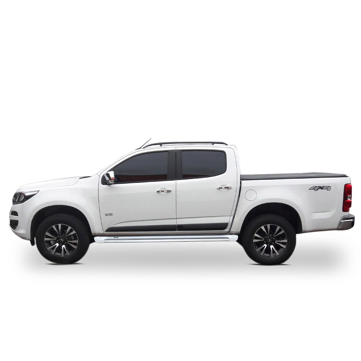 Estribo Lateral S10 CD 2012 a 2020 Branco Summit Personalizado