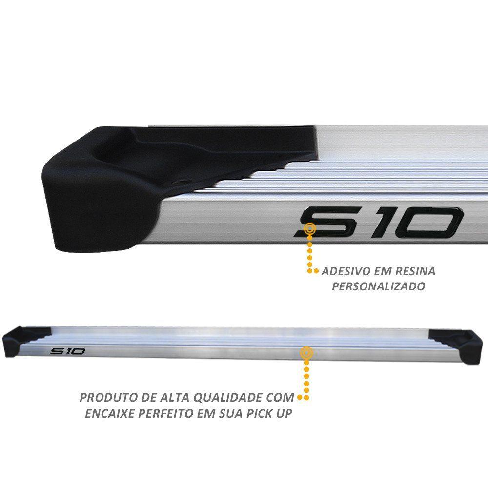 Estribo Lateral S10 CS 1995 a 2011 Aluminio Natural A3