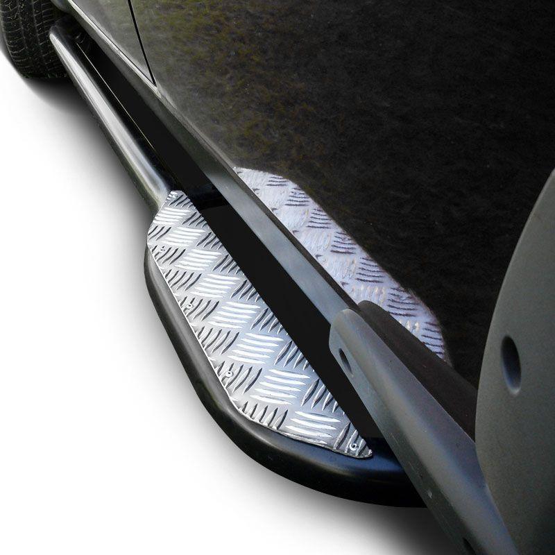 Estribo Lateral Saveiro 2010 a 2019 Tubolar Com Chapa Aluminio