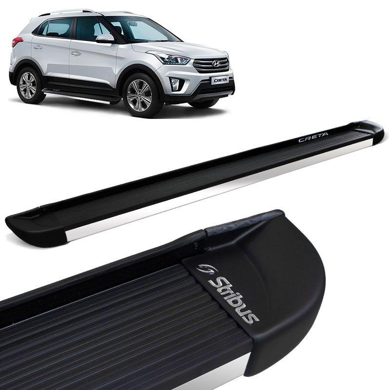 Estribo Lateral Hyundai Creta Preto Fosco Stribus