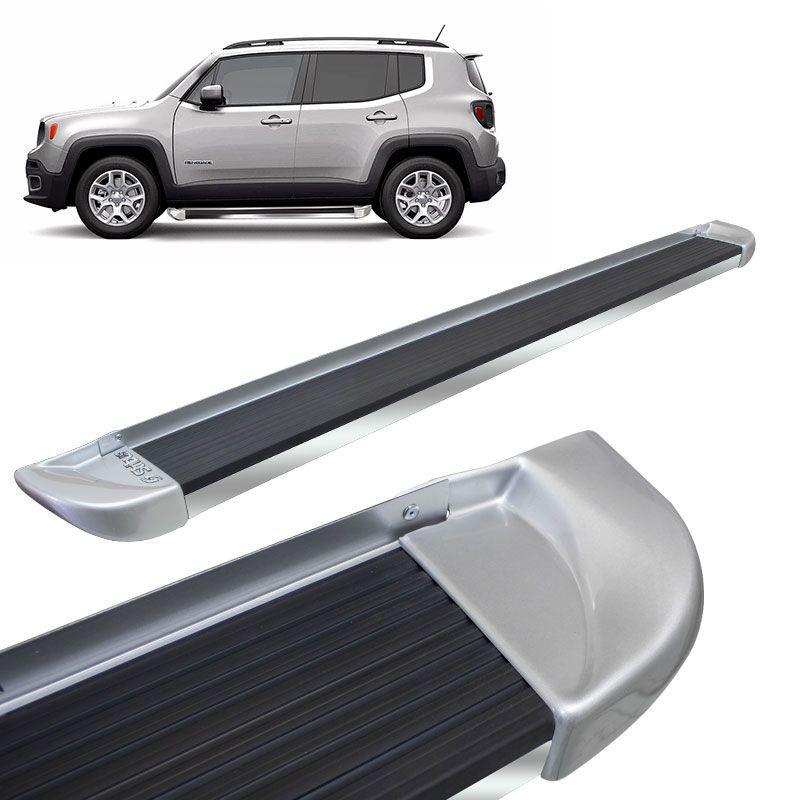 Estribo Lateral Jeep Renegade 2015 a 2020 Prata Melfi Stribus