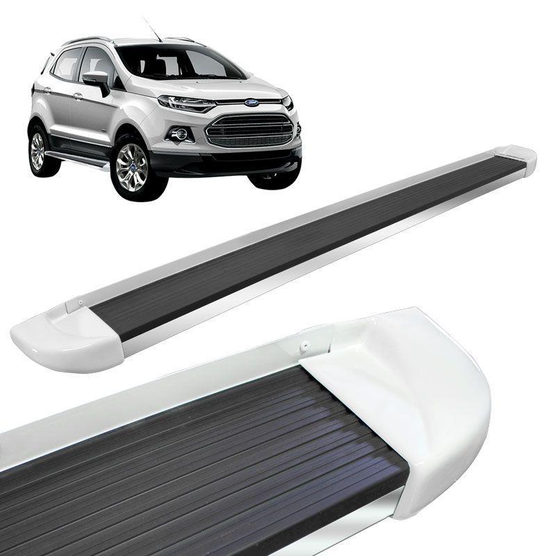 Estribo Lateral Ford Ecosport 2013 a 2018 Branco Artico Stribus