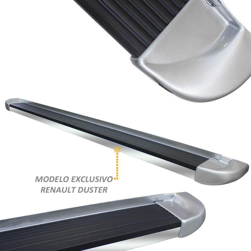 Estribo Lateral Duster 2012 a 2018 Prata Etoile Stribus