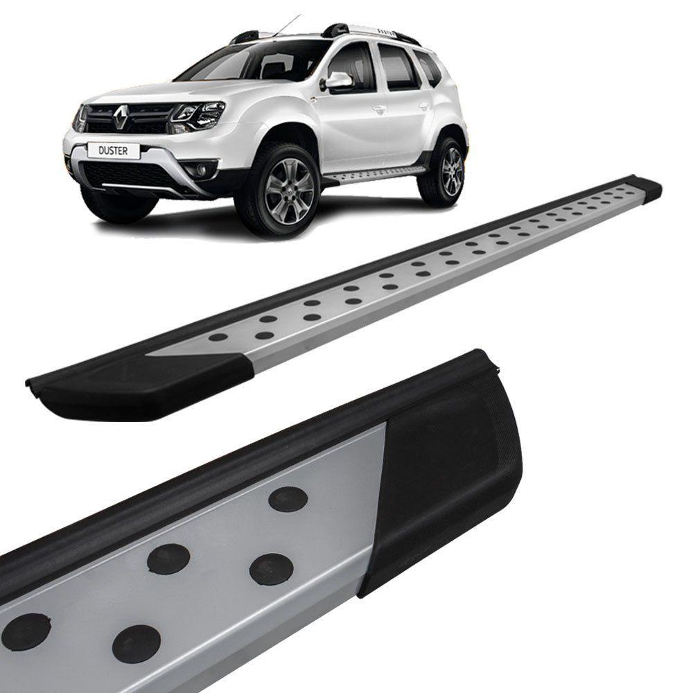 Estribo Lateral Renault Duster 2011 a 2018 Alumínio Prata Bepo