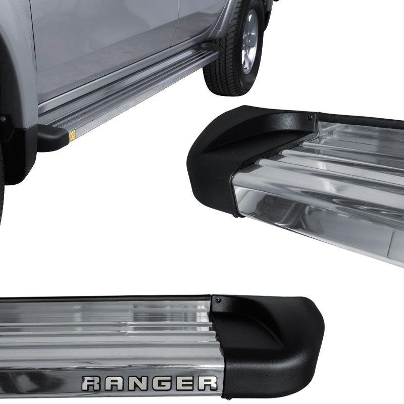 Estribo Lateral Ranger 2013 a 2018 Aluminio Polido Track
