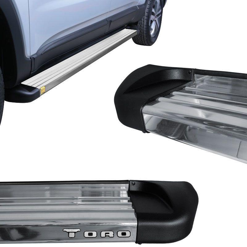 Estribo Lateral Fiat Toro 2016 a 2018 Aluminio Polido Track