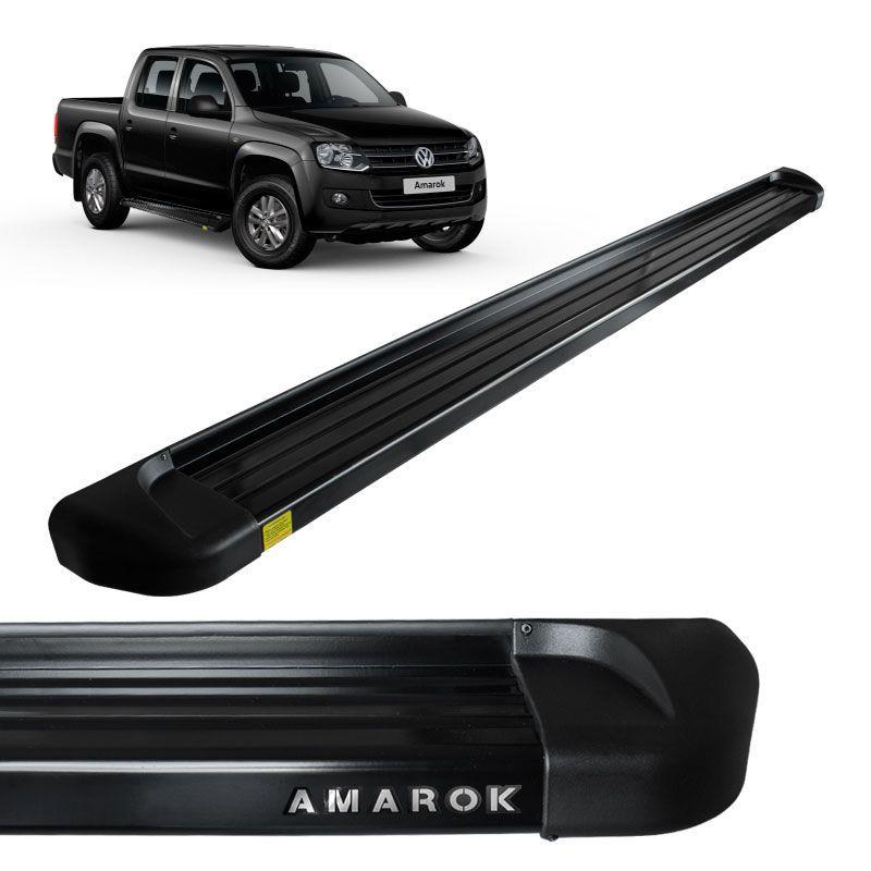 Estribo Lateral Amarok 2010 a 2018 Aluminio Preto Track
