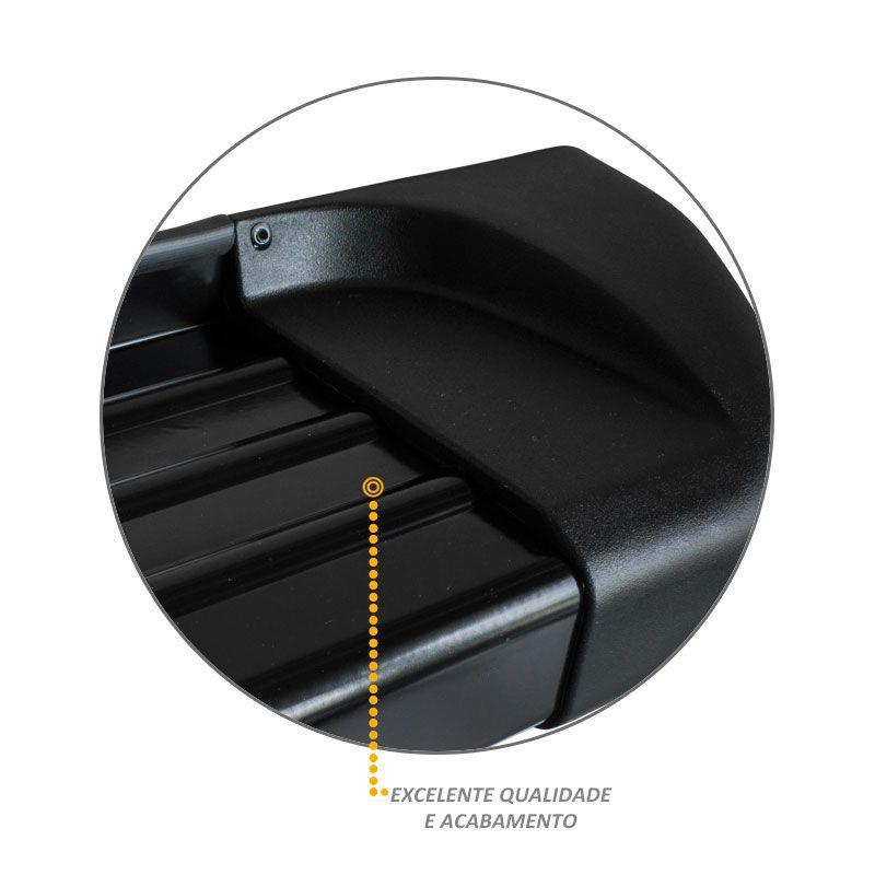 Estribo Lateral S10 2012 a 2020 Alumínio Preto Track