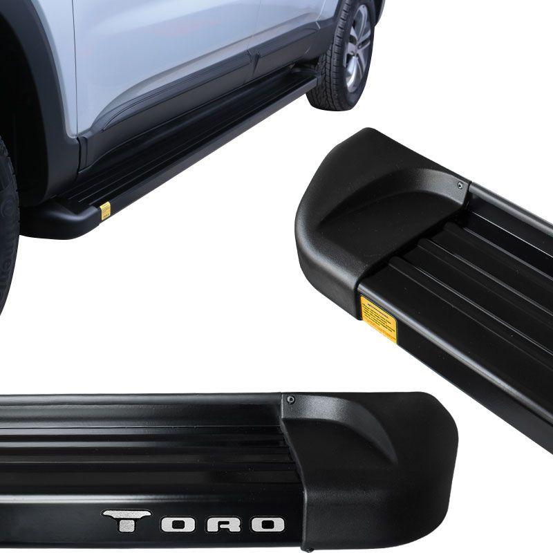 Estribo Lateral Fiat Toro 2016 a 2018 Aluminio Preto Track