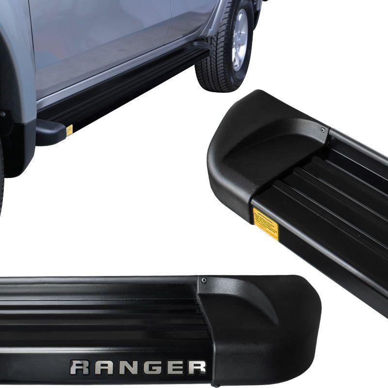 Estribo Lateral Ranger 2013 a 2018 Aluminio Preto Track