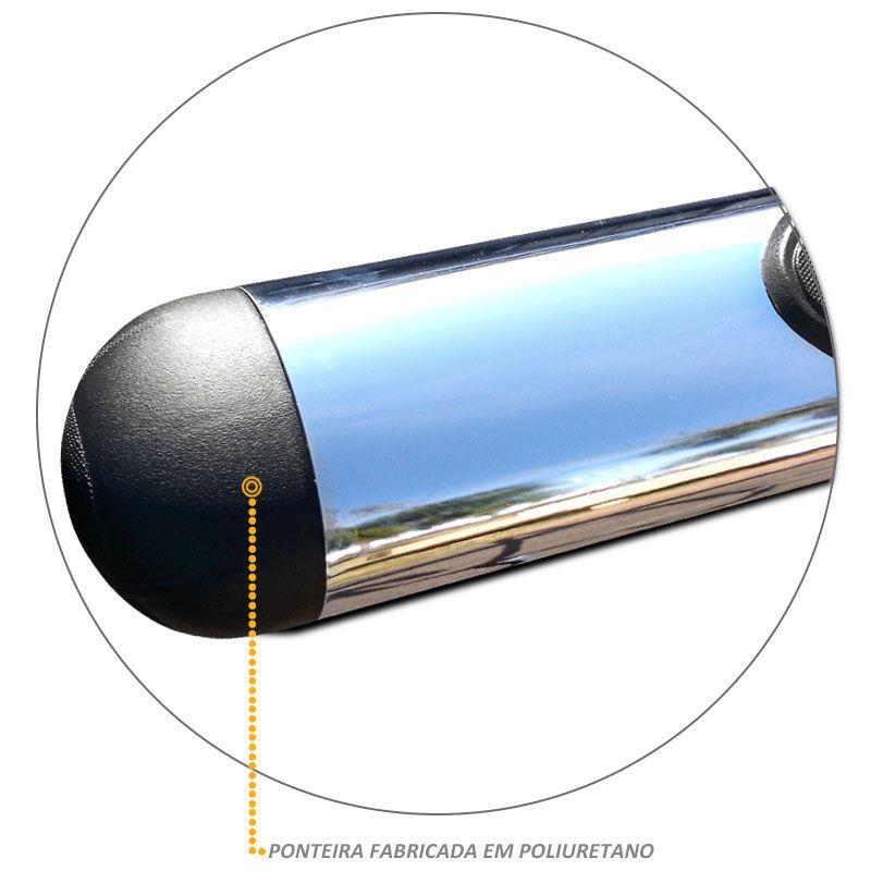 Estribo Oval Hilux 2005 a 2015 Cromado Aço Carbono Bepo