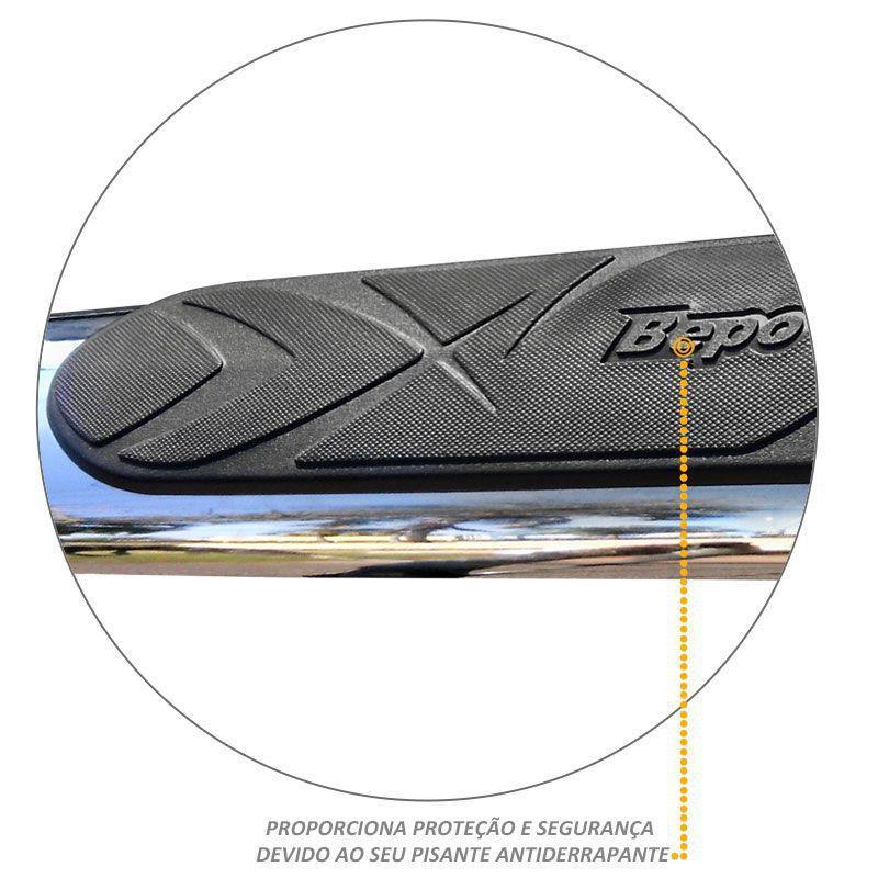 Estribo Oval Ranger 2013 a 2020 Cromado Aço Carbono Bepo