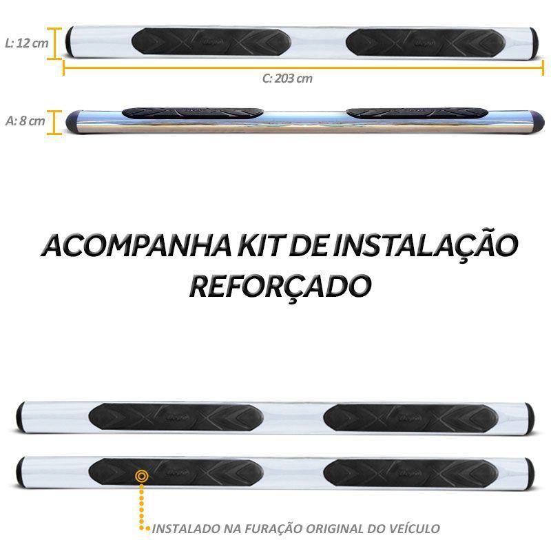 Estribo Oval S10 1995 a 2011 Cromado Aço Carbono Bepo