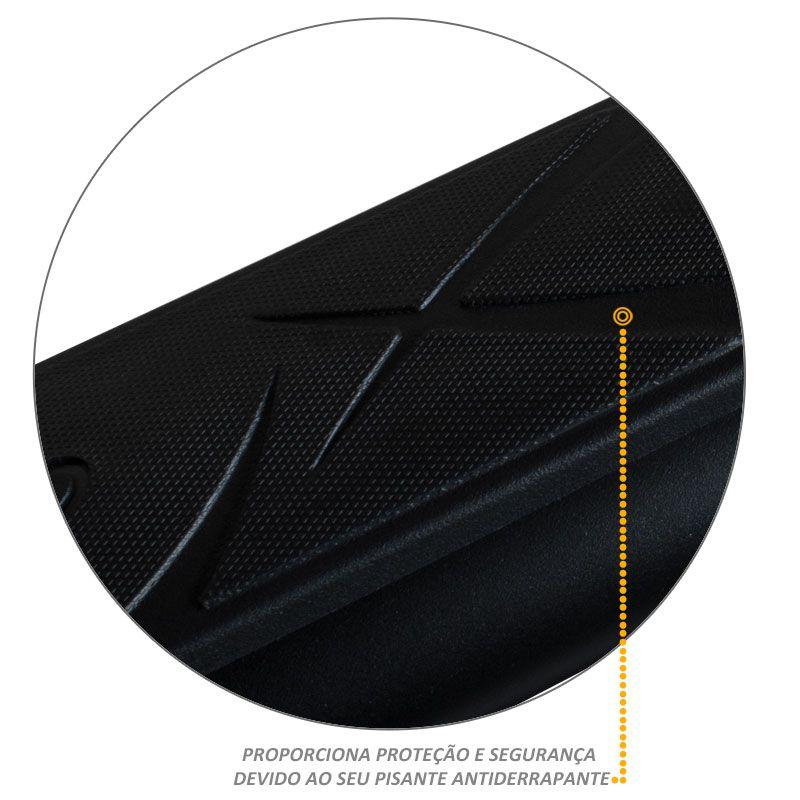 Estribo Oval Fiat Toro 2016 a 2018 Preto Fosco Original Bepo