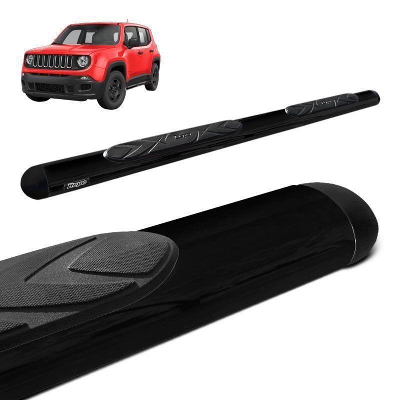 Estribo Oval Jeep Renegade 2015 a 2018 Preto Original Bepo