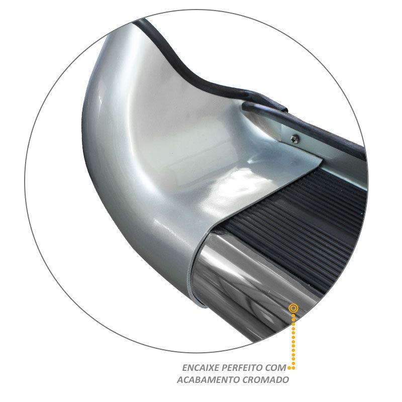 Estribo Lateral S10 2005 a 2011 Prata Polaris Com Alargador