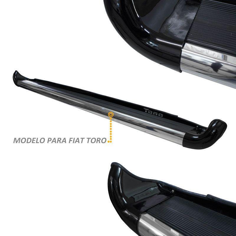 Estribo Lateral Fiat Toro 2016 a 2018 Preto Carbon Personal