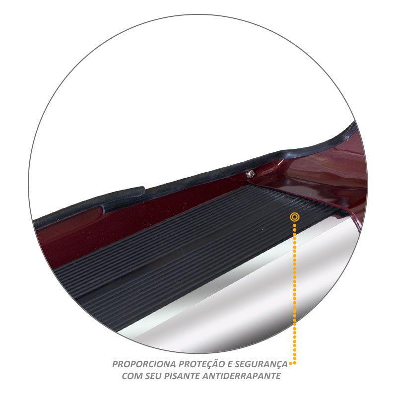 Estribo Lateral Fiat Toro 2016 a 2021 Vermelho Tribal Personal