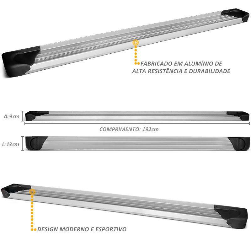 Estribo Lateral Oroch 2016 a 2019 Aluminio Prata