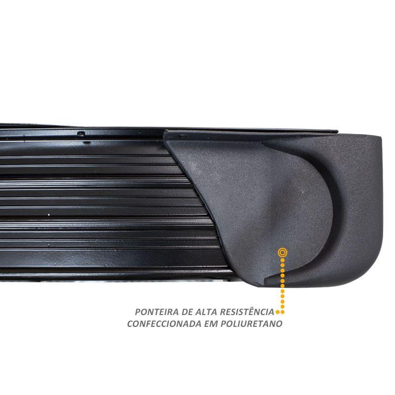 Estribo Lateral Fiat Toro 2016 a 2018 em Aluminio Preto