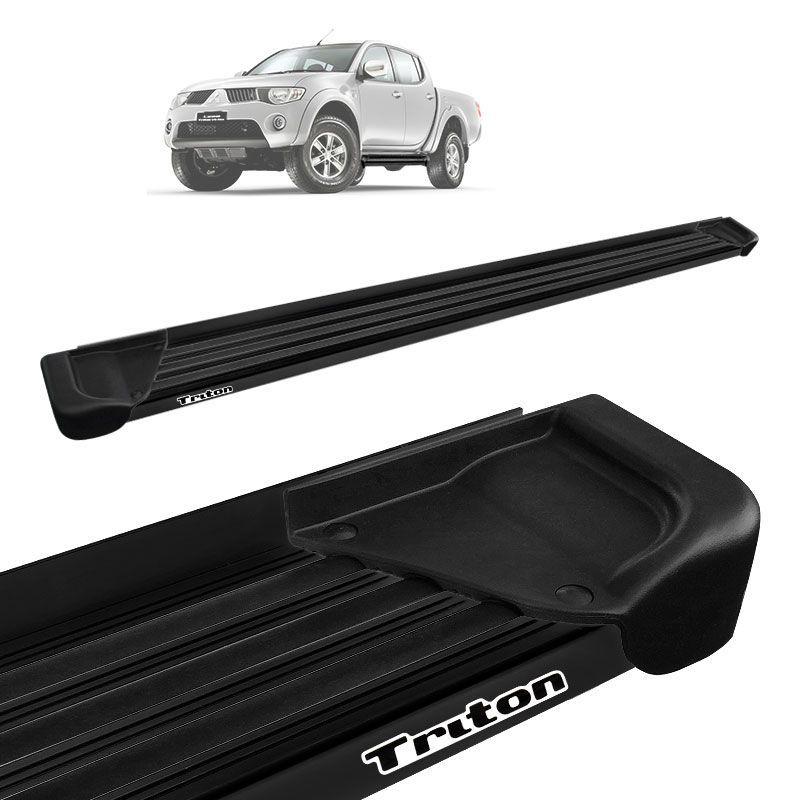 Estribo Lateral L200 Triton 2008 a 2018 Aluminio Preto A1