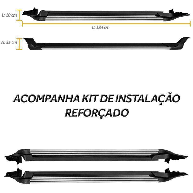 Estribo Spoiler Ecosport 2013/2016 Alumínio Mod Original