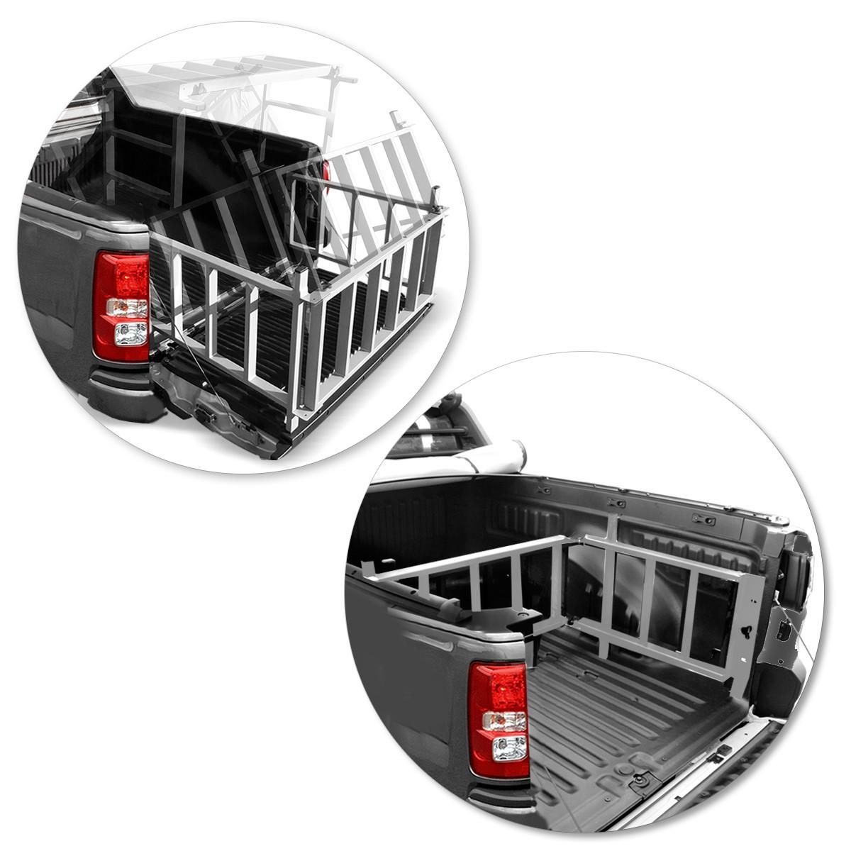 Extensor De Caçamba S10 2012 a 2020 C/ Rampa EDR Prata