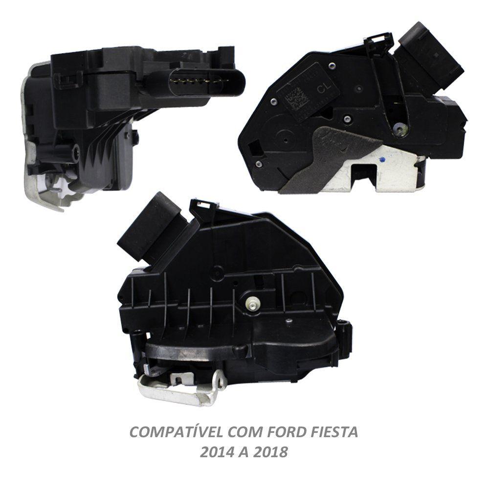 Fechadura Elétrica Porta Fiesta Hatch 2010 a 2016 Dianteira Esquerda