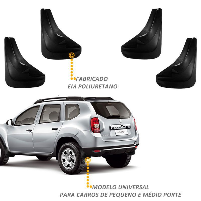 Flap Protetor Parabarro Universal Longo 4 Peças - Tgpoli