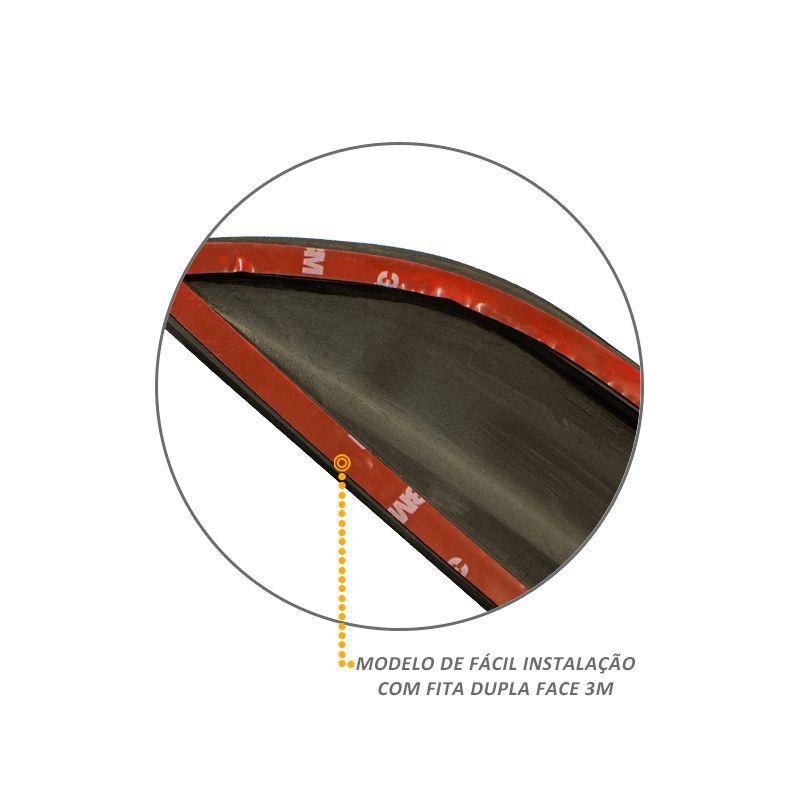Jogo Friso Lateral S10 2012 a 2017 Modelo Original Preto Fosco