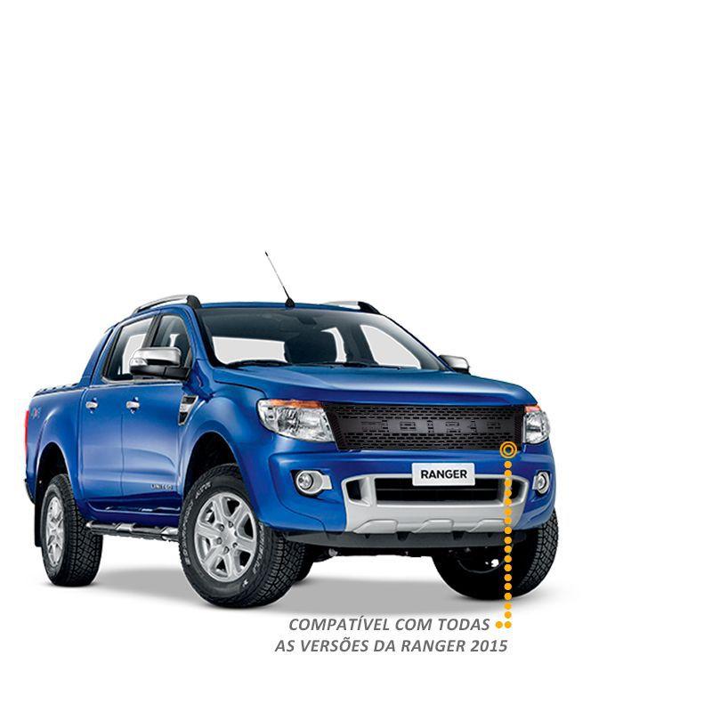 Grade Frontal Raptor para Ford Ranger 2012 a 2016 Preta Fosca
