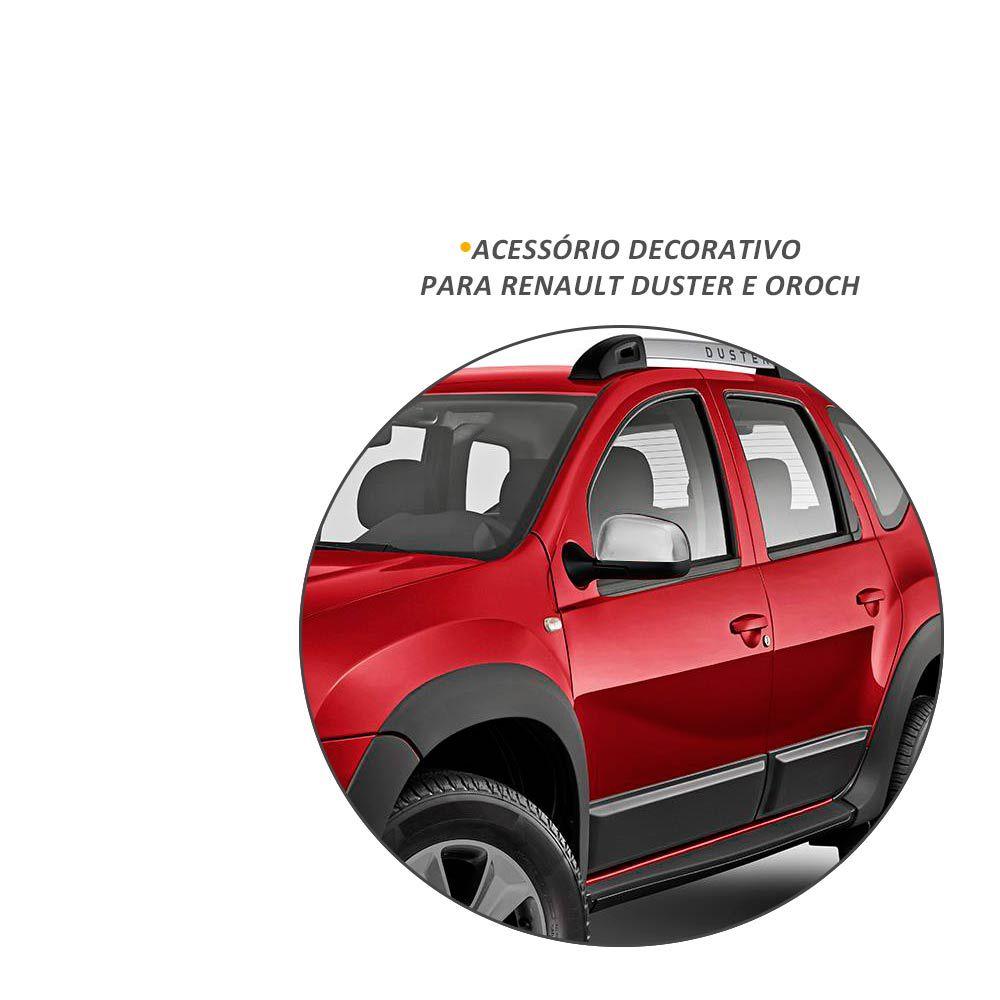 Jogo de Aplique de Retrovisor Renault Duster e Oroch Cromado