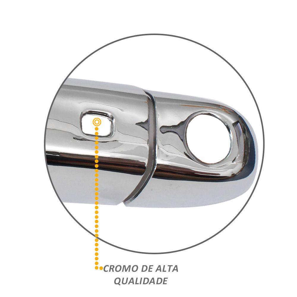 Jogo de Apliques de Maçaneta cromados para Fiat Toro - 4 Portas