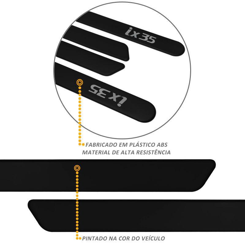 Jogo de Friso Lateral ix35 2011 a 2019 Preto Phantom