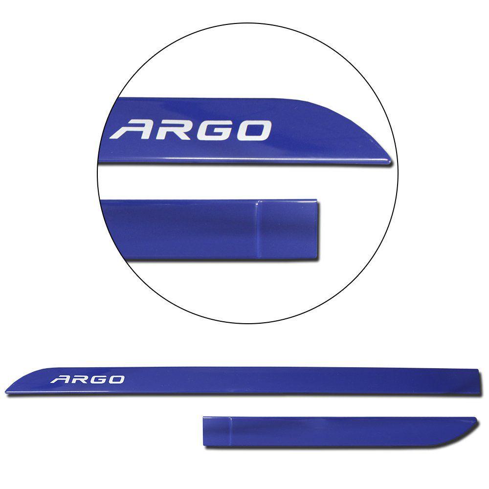 Jogo de Friso Lateral Argo 2018 2019 Azul Portifino Facão