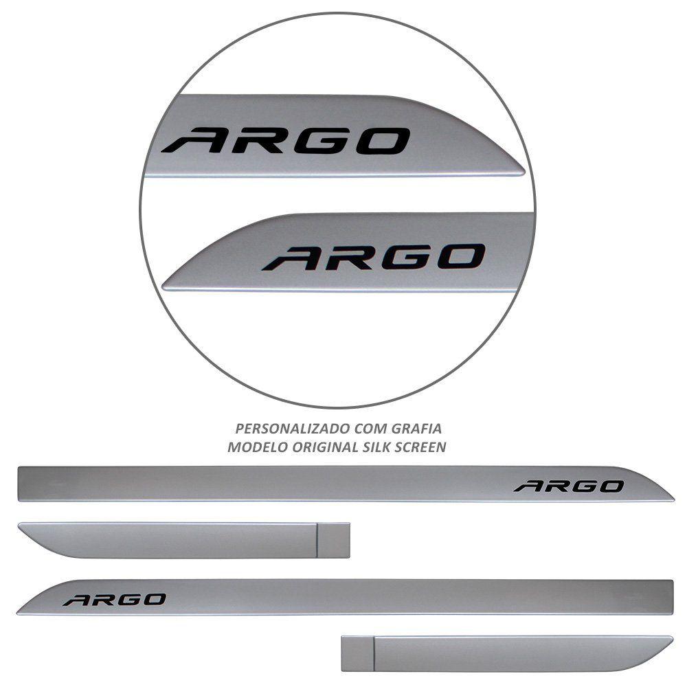 Jogo de Friso Lateral Argo 2018 2019 Prata Bari