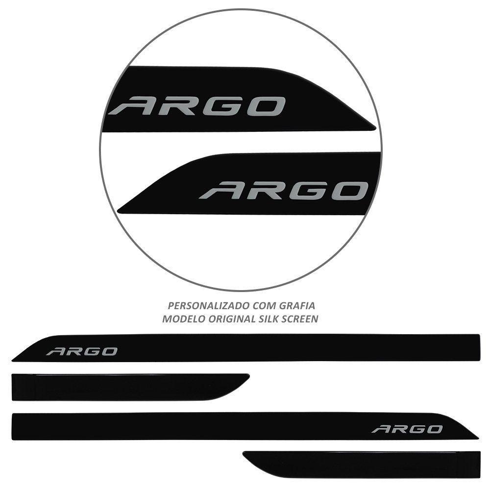 Jogo de Friso Lateral Argo 2018 2019 Preto Vulcano