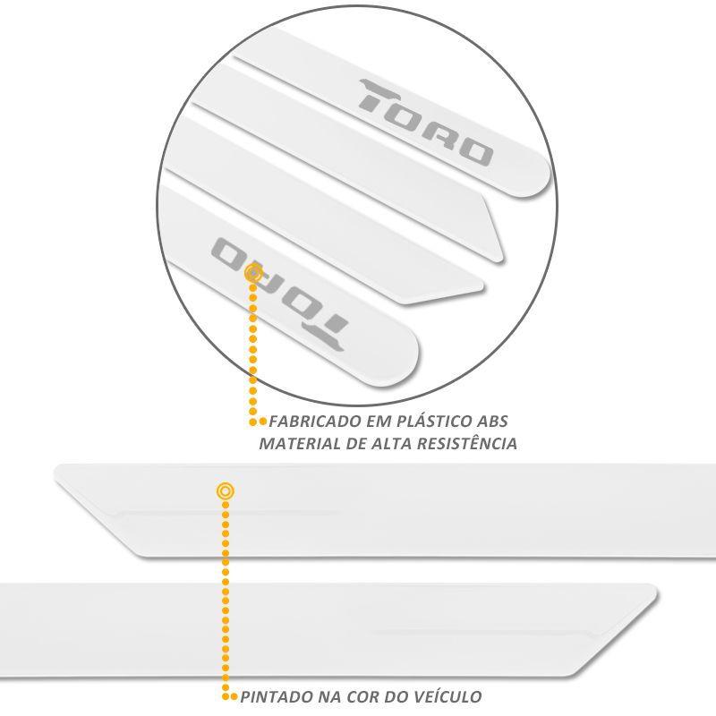 Jogo de Friso Lateral Fiat Toro 2016 a 2019 Branco Ambiente
