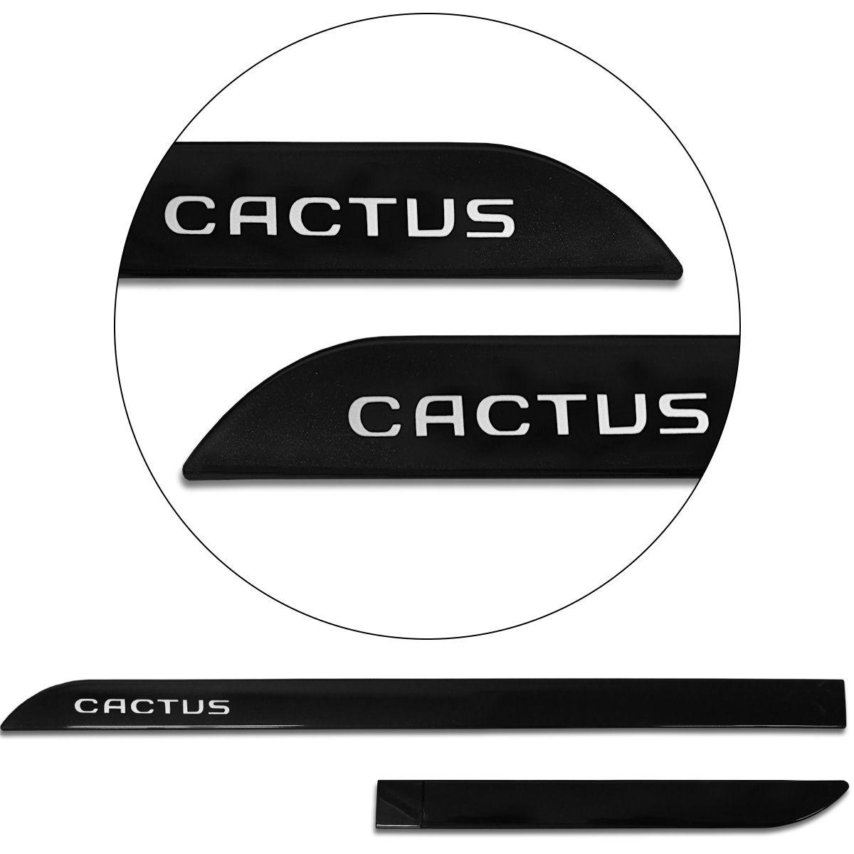 Jogo De Friso Lateral C4 Cactus 2019 2020 Facão Preto Perla Negra