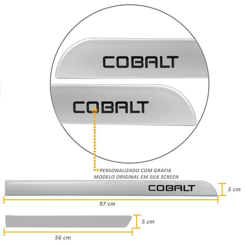 Jogo Friso Lateral Chevrolet Cobalt 2011/2017 Prata Switchblade