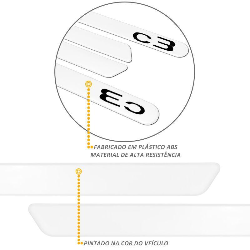 Jogo de Friso Lateral Citroen C3 Branco Banquise