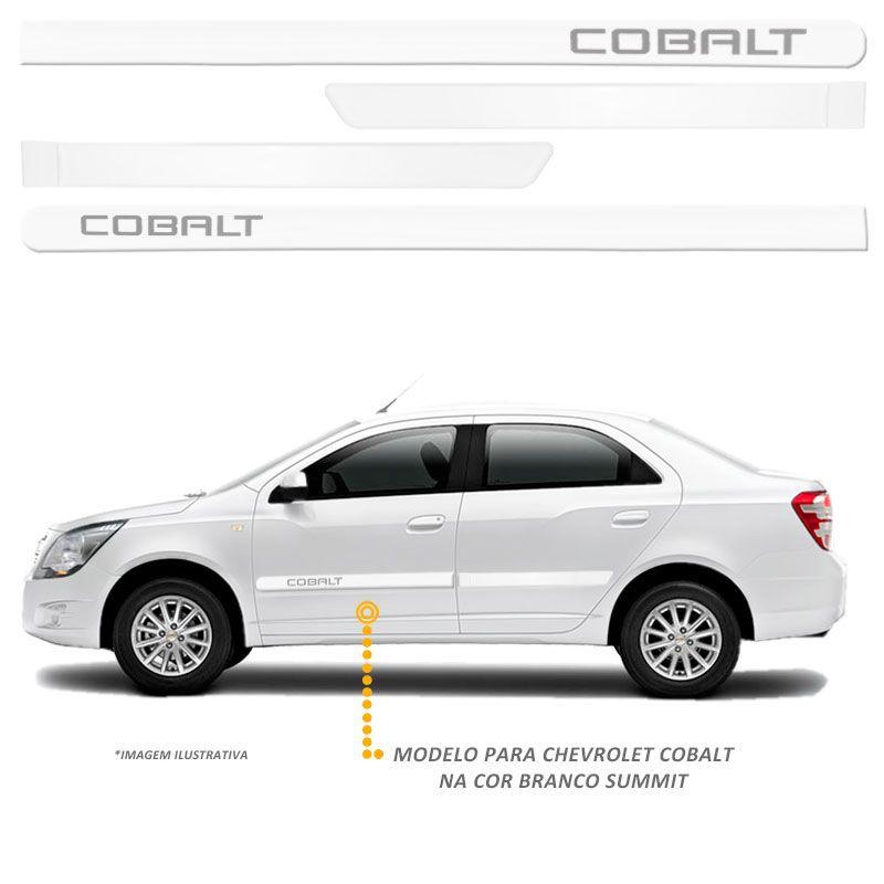 Jogo Friso Lateral Chevrolet Cobalt 2011/2017 Branco Summit