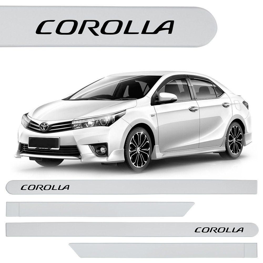 Jogo de Friso Lateral Corolla 2015 a 2019 ABS Branco Polar