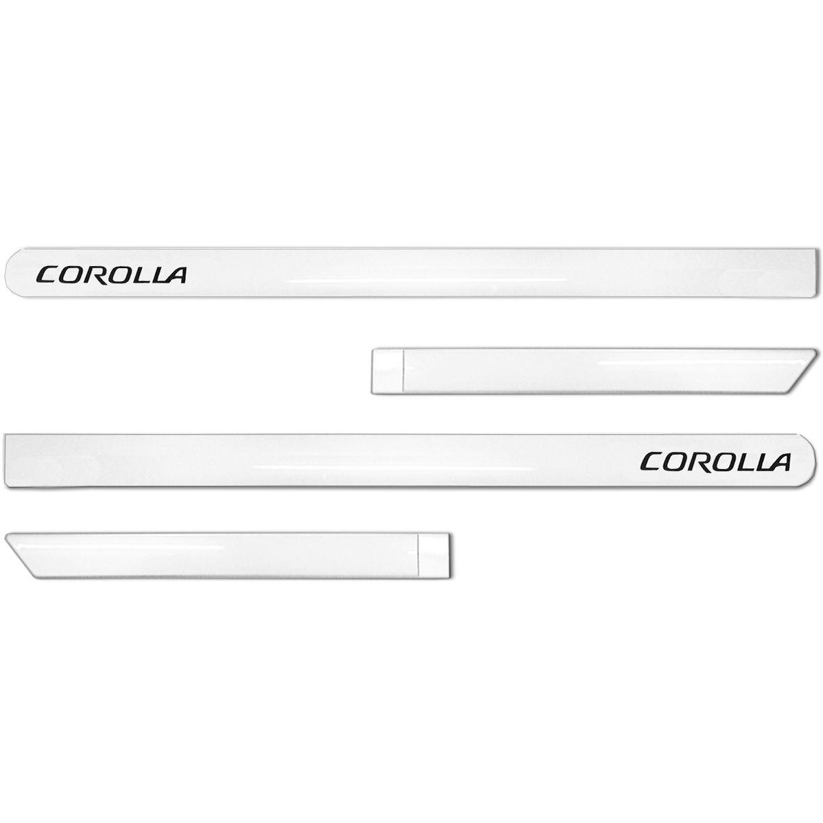 Jogo de Friso Lateral Corolla 2015 a 2019 Branco Perola