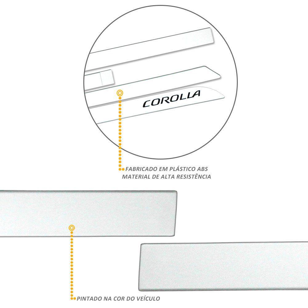 Jogo de Friso Lateral Corolla 2015 a 2019 Branco Perola Facão