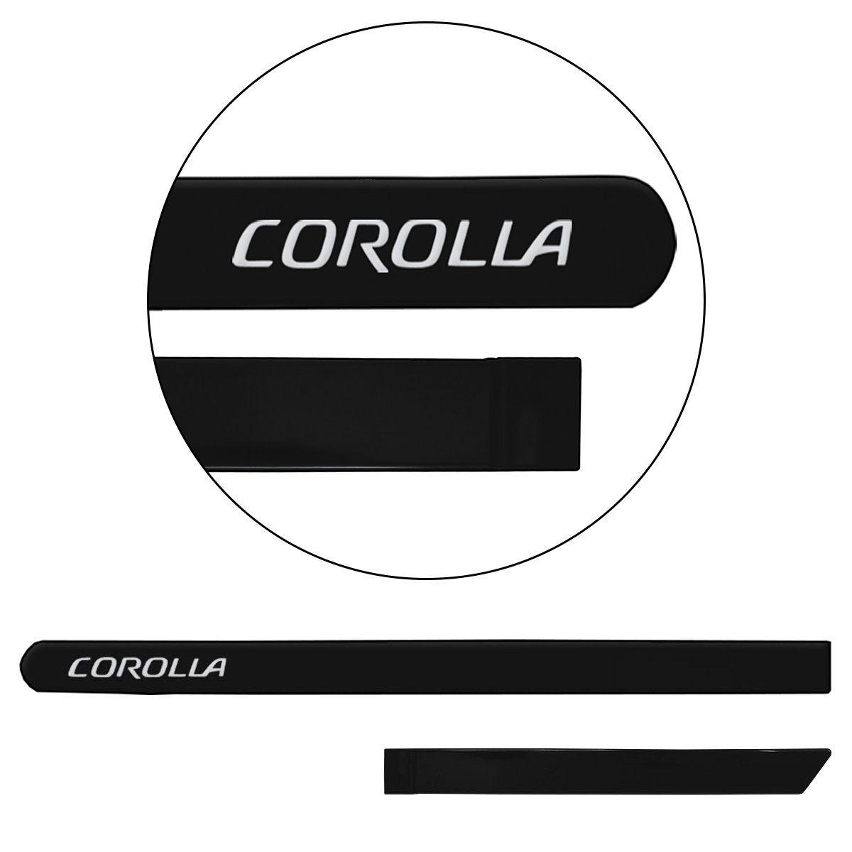 Jogo de Friso Lateral Corolla 2015 a 2019 Preto Eclipse