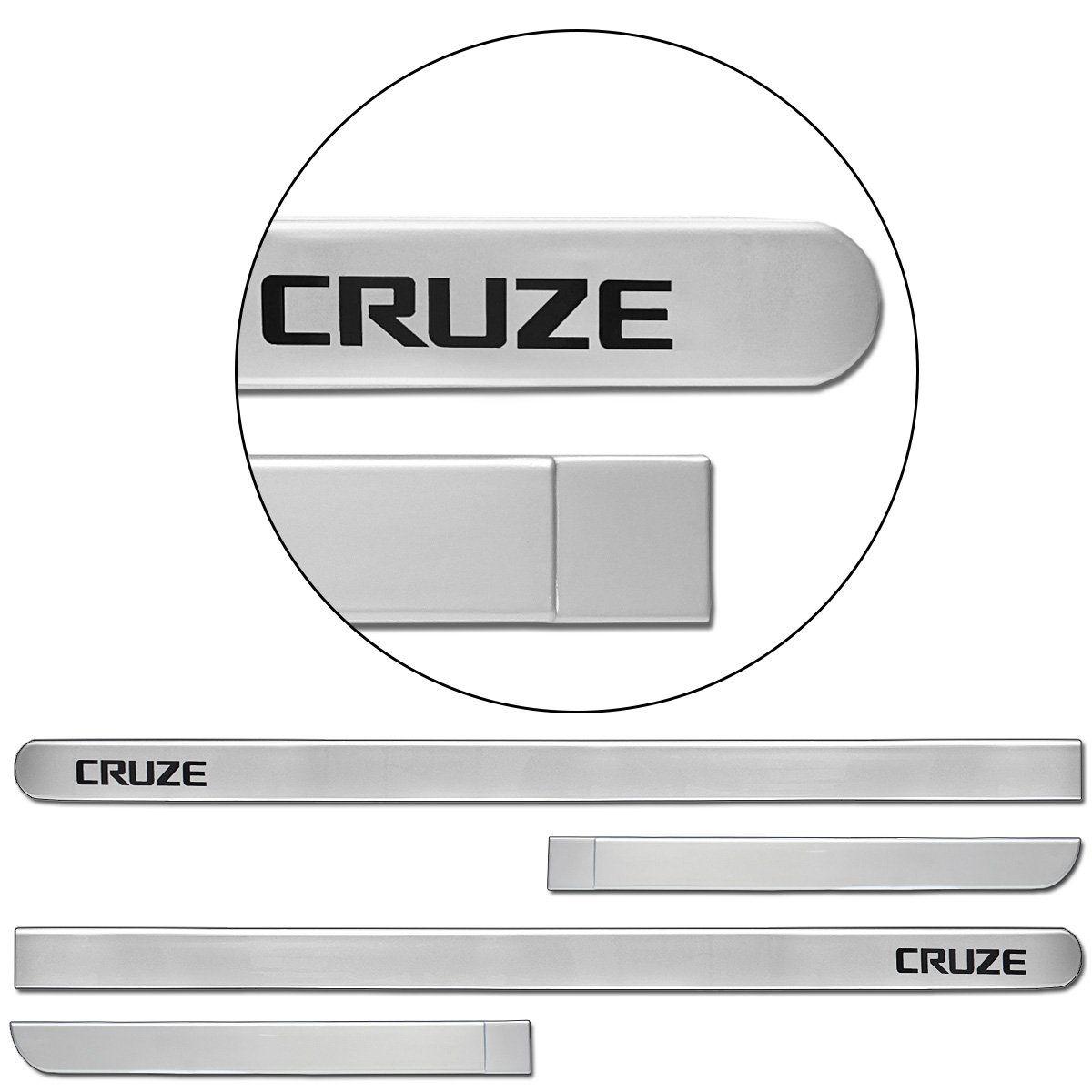 Jogo de Friso Lateral Cruze 2012 a 2019 Prata Switchblade