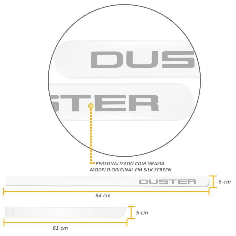 Jogo de Friso Lateral Duster 2012 a 2019 Branco Neige