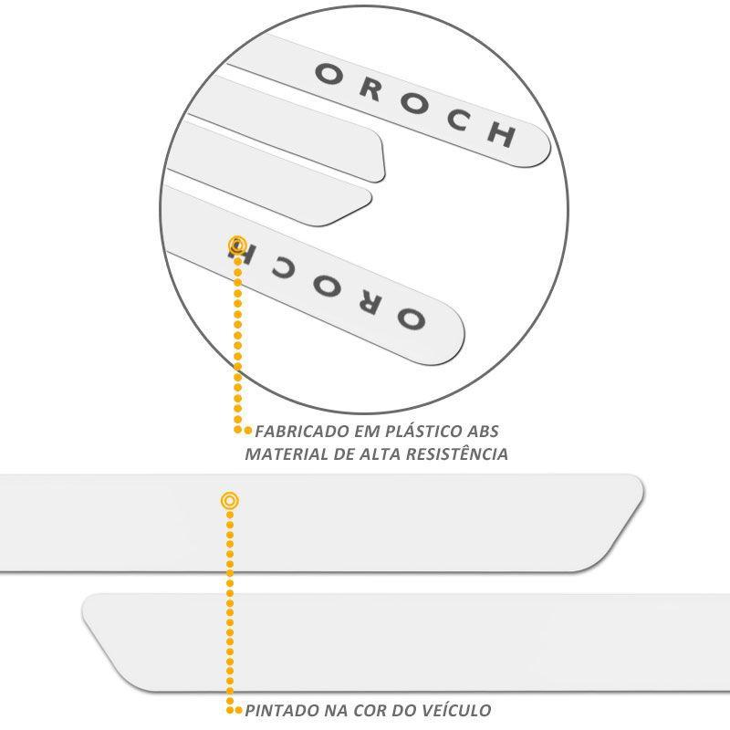 Jogo de Friso Lateral Oroch 2016 a 2019 Branco Neige