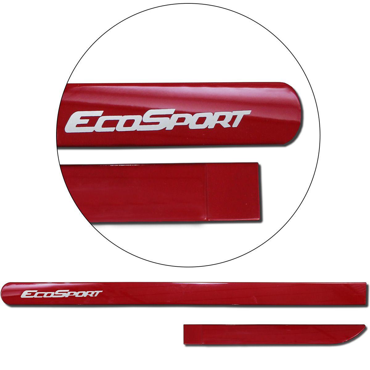 Jogo de Friso Lateral Ecosport 2013 a 2019 Vermelho Arpoador